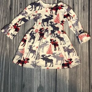 Cute moose winter dress